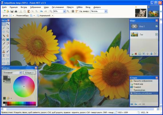 Paint.NET — бесплатный растровый графический редактор рисунков и фотографий