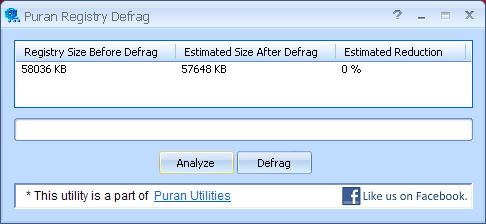 Puran Registry Defrag 2
